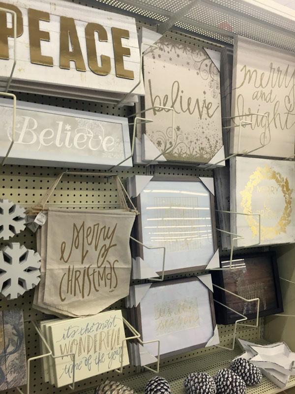 Gold and White Hobby Lobby Christmas Art