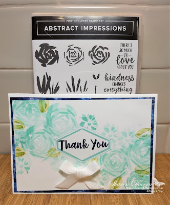 Abstract Impressions, Garden Impressions, Tailored Tag, Thank you card, Stampin' Up, DIY Cards