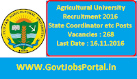 Agricultural University Recruitment
