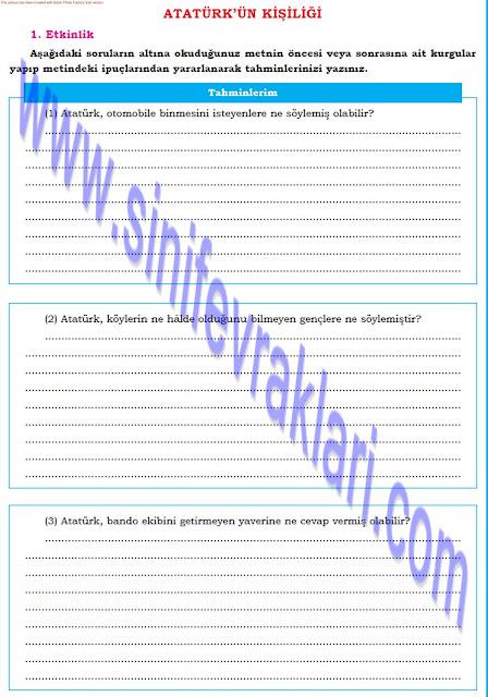 8. Sınıf Dörtel Yayınları Türkçe Çalışma Kitabı Cevapları Sayfa 36