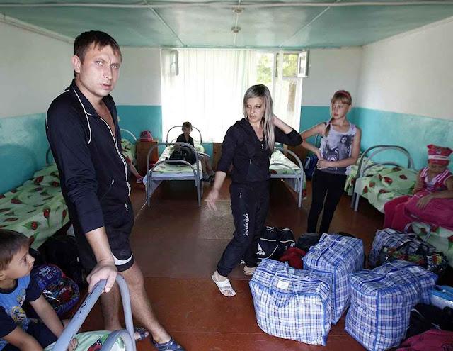 Família russófona da Ucrânia separatista foi para o sul da Rússia.