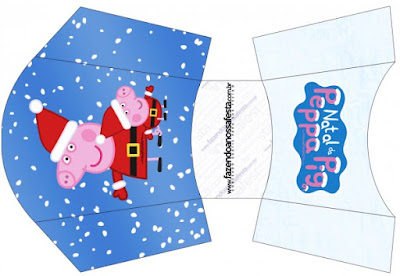 Esta es para patatas o papas fritas de Peppa Pig en Navidad.