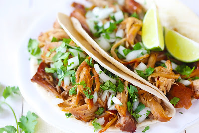 The BEST Slow Cooker Pork Carnitas from Food Bloggers featured on SlowCookerFromScratch