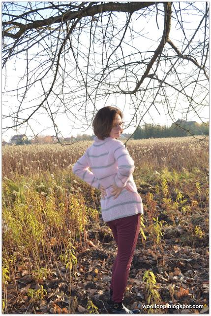 Sweter z włóczki alpaka i jedwab