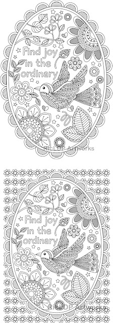 Find joy in the ordinary coloring pages