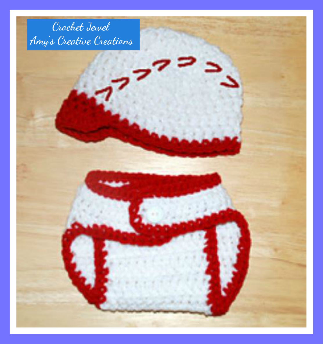 Amy\'s Crochet Creative Creations: Crochet Baseball Hat & Diaper ...