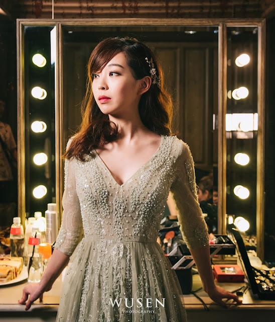 台北婚攝君品酒店天花板進場新娘休息室化妝室