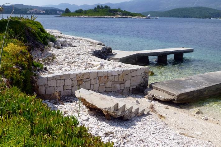 Steinerner Anleger in Kroatien