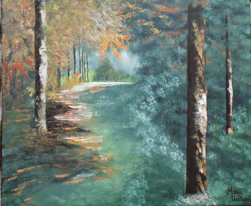 oil on canvas paintings, oil paint technique, oil paintings, landscape paintings, scenery paintings, forest painting,