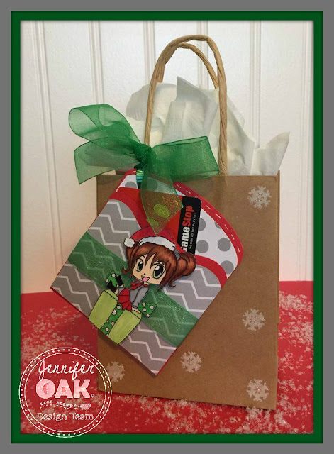 Christmas gif tcard holder tag