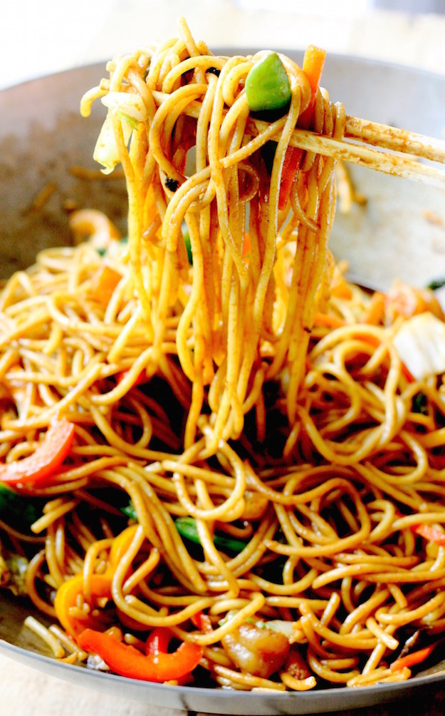 Shrimp Lo Mein recipe by SeasonWithSpice.com