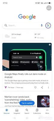 Buka Google, tap ikon lens