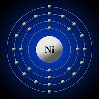 Nikel atomu elektron modeli