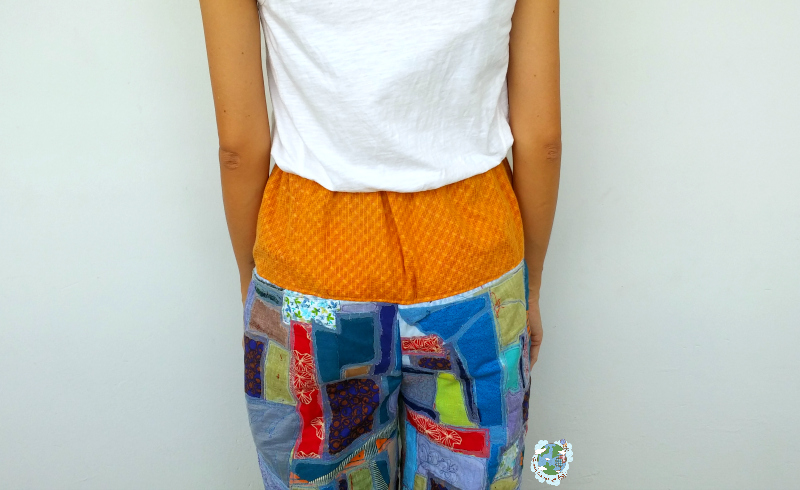 Kintsugi Inspired Trousers - Another Upcycle