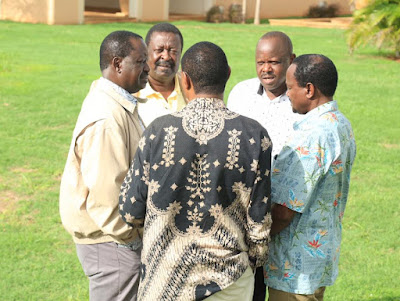 Raila Odinga and other NASA leaders in a retreat. PHOTO | FILE