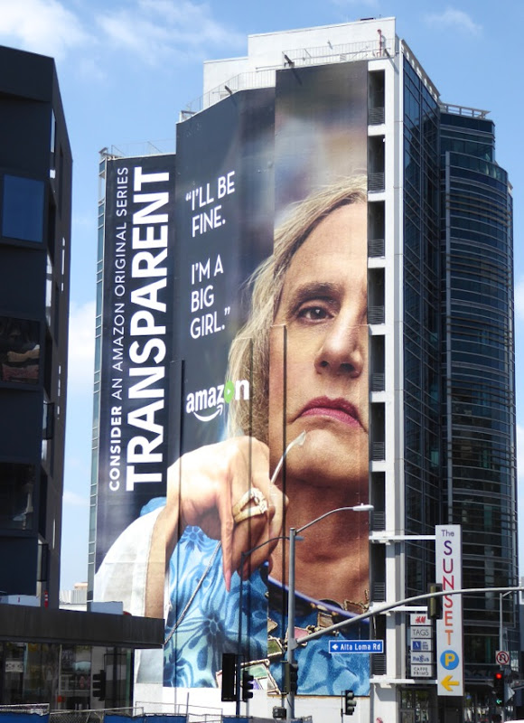 Giant Transparent I'm a big girl 2016 Emmy billboard