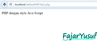 PHP scripts in the form of Java Script