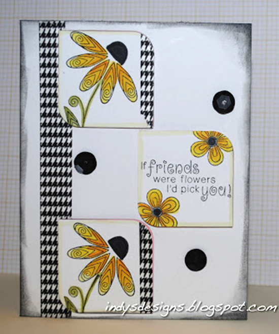Friendship Flower Card by Indy's Designs | Beautiful Blossoms Stamp set by Newton's Nook Designs #newtonsnook