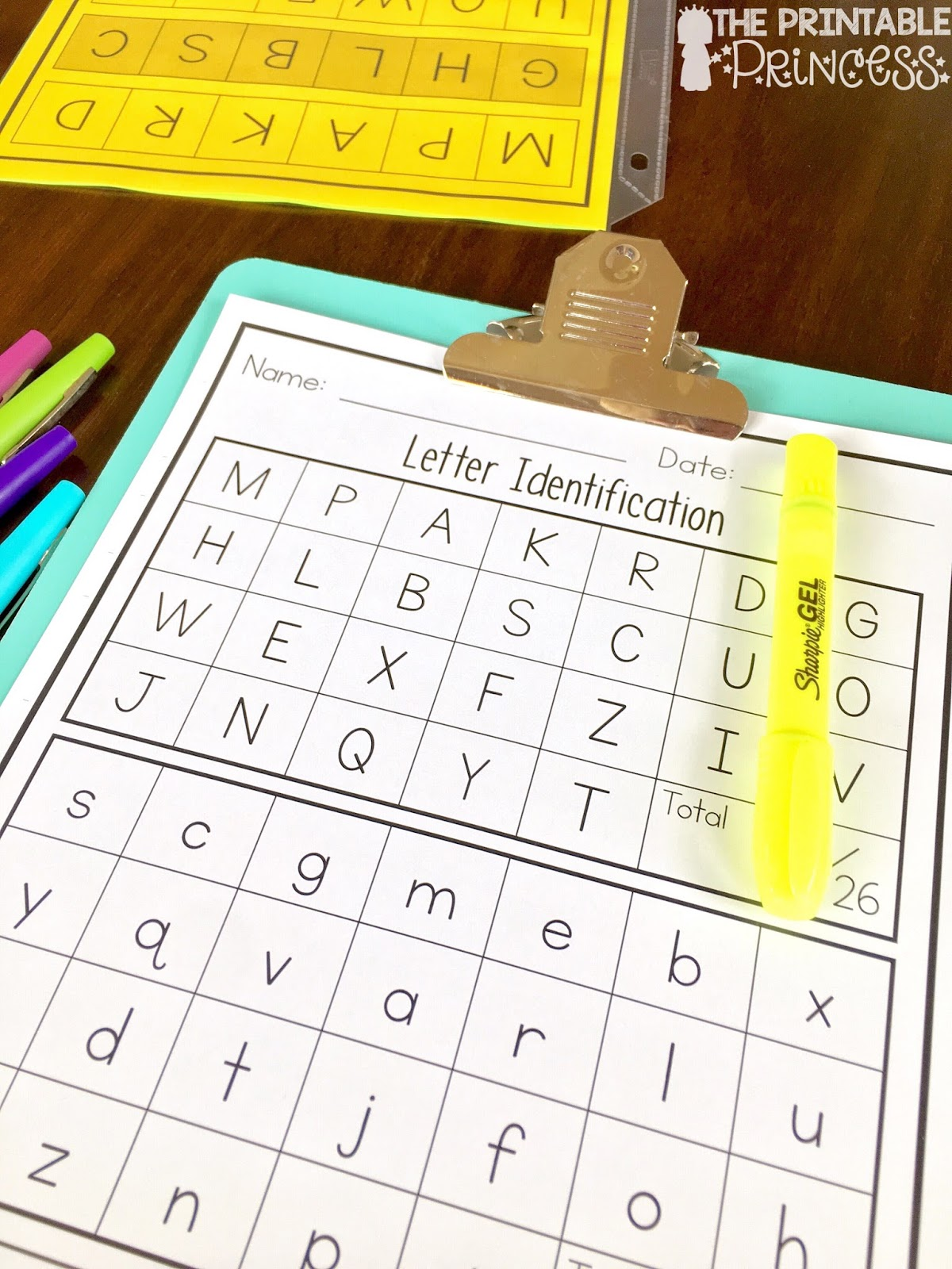 The Printable Princess Letter Recognition And Alphabet Activities For Kindergarten