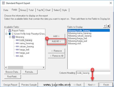 Cara Membuat Laporan dengan Crystal Report dan Database MySQL