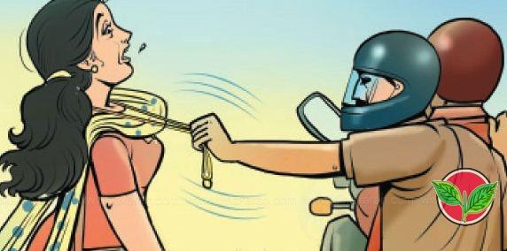 செயின் பறிப்பில் ஈடுபட்டு வந்த அதிமுக பிரமுகரின் மகன் உள்பட 2 பேர் கைது