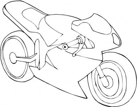 motorbike coloring pages | mewarnai gambar motor