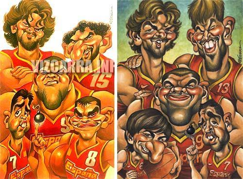 """""""Selección española de Basket"""" por Joan Vizcarra"""