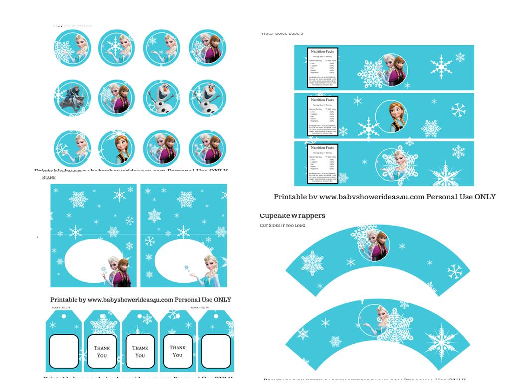 Nice Frozen Free Printable Kit