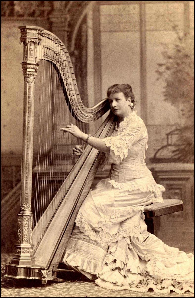 Music in Victorian Era – Vintage Pictures of Women Playing