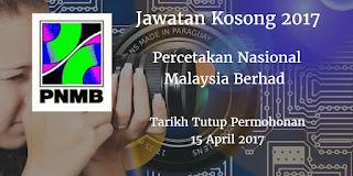 Jawatan Kosong PNMB 15 April 2017