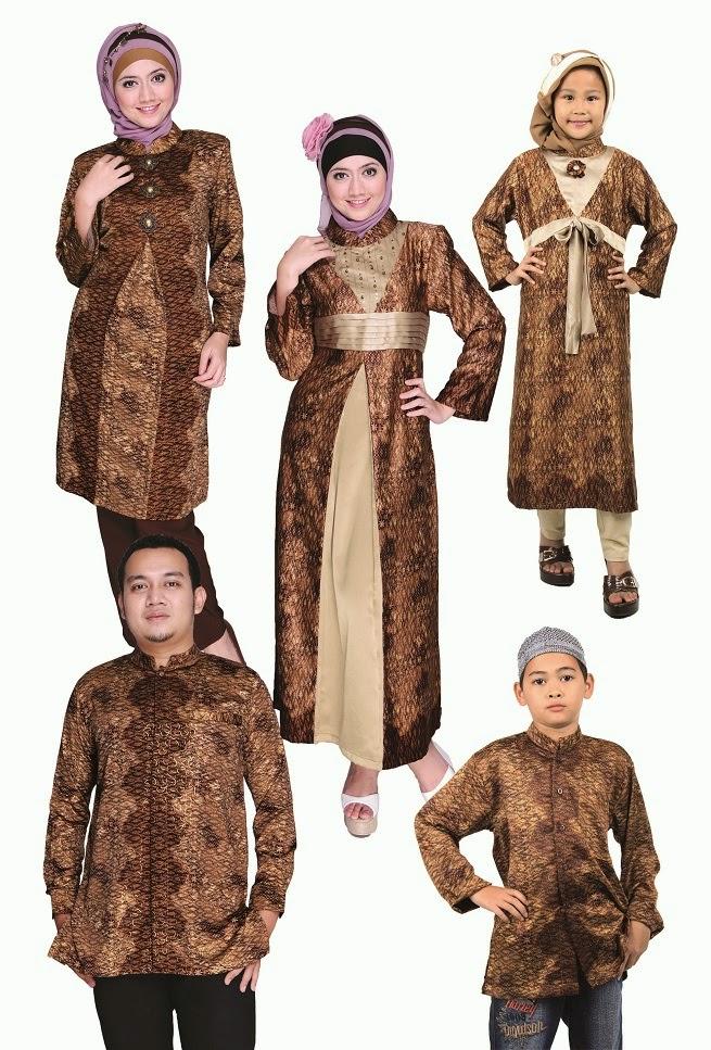 Contoh Desain Baju Batik Muslim Keluarga Sarimbit