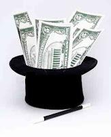 soldi dal cilindro