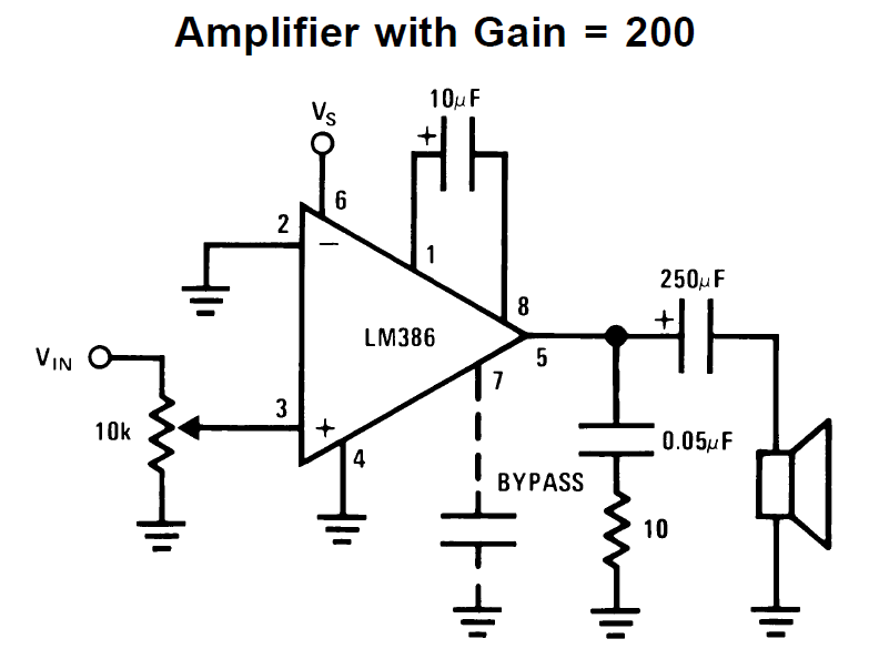 lm386 amplifier circuit explained