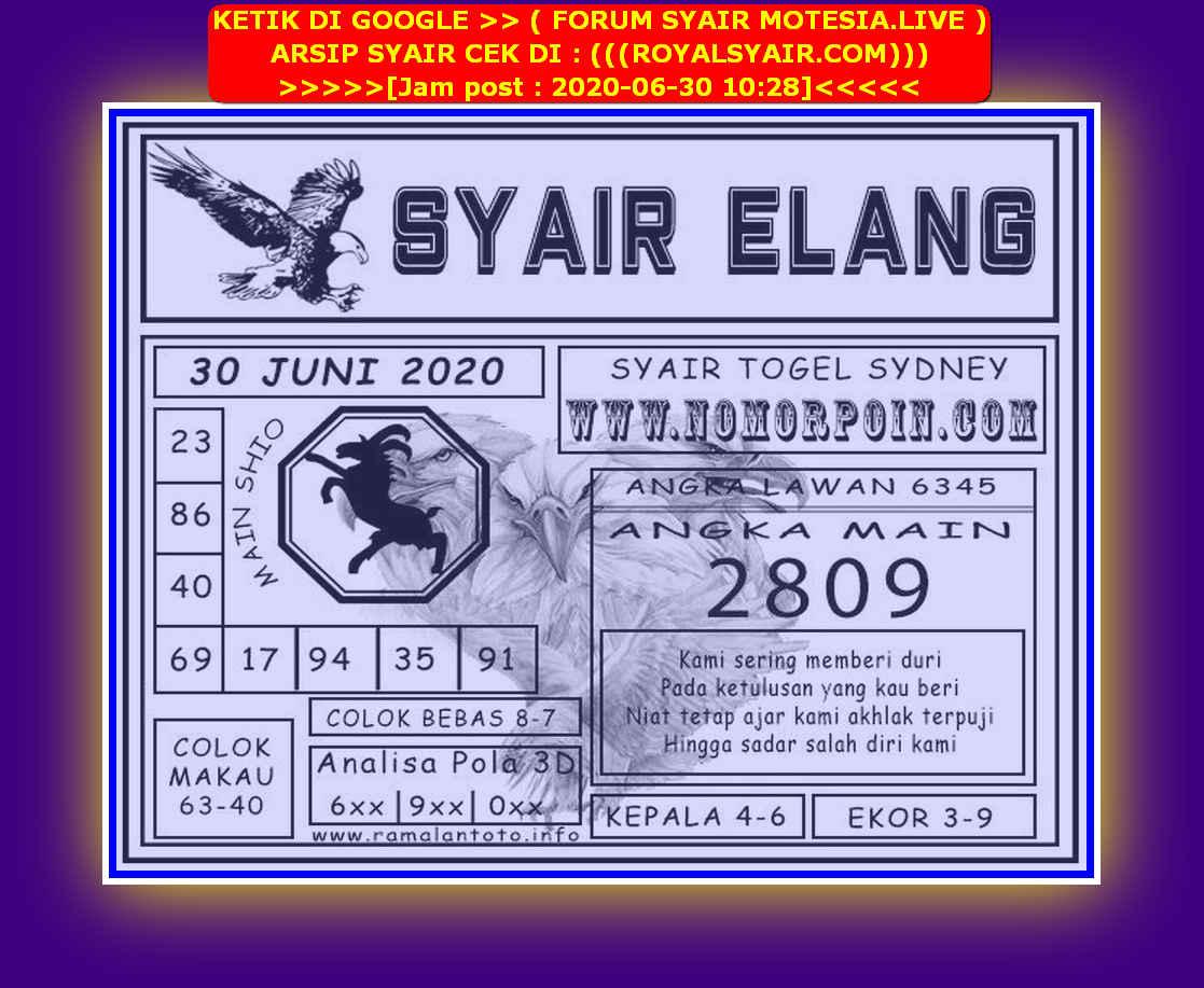 Kode syair Sydney Selasa 30 Juni 2020 196