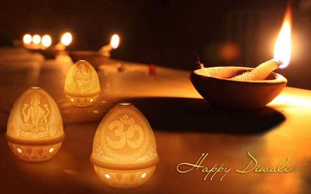 Happy Diwali Widescreen Wallpaper