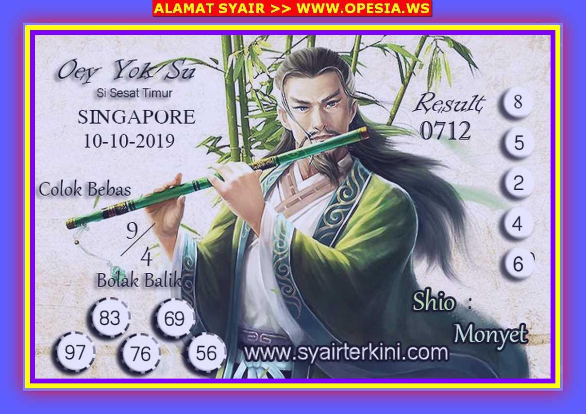 Kode syair Singapore Kamis 10 Oktober 2019 42
