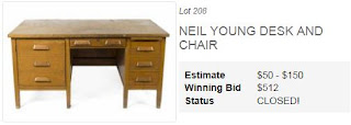 Neil Youngs Schreibtisch