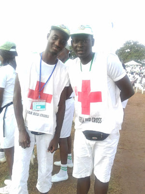 Corpers doing the red cross community development service