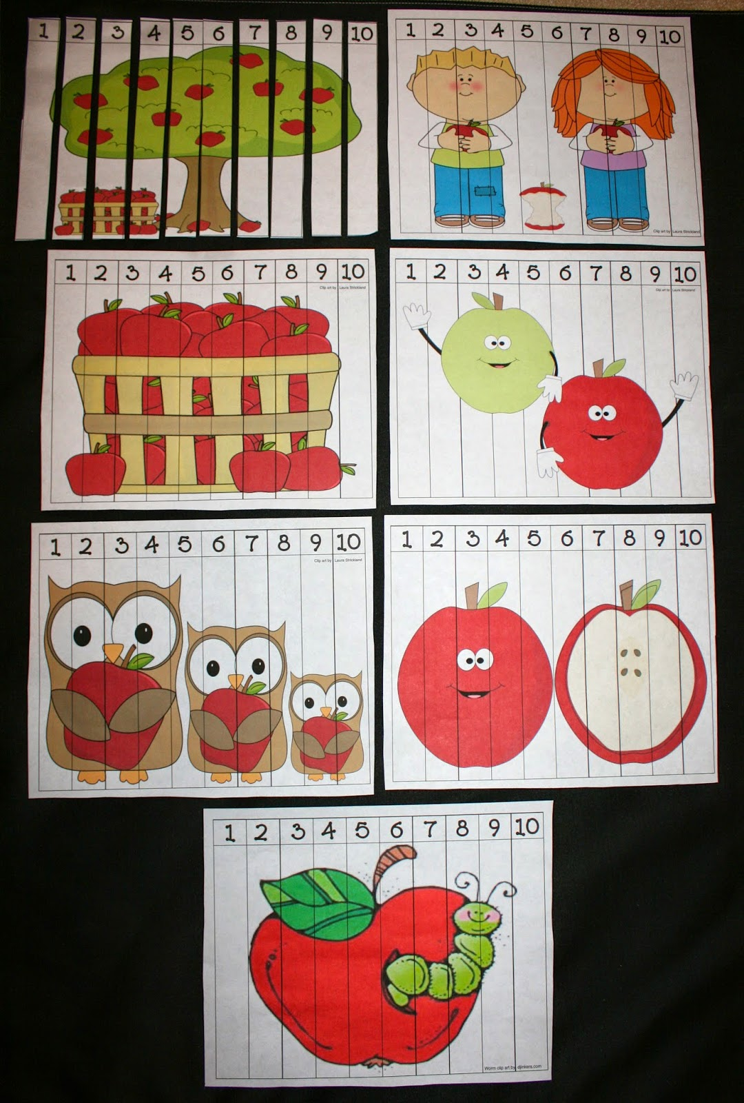 Classroom Freebies Apple Number Puzzles