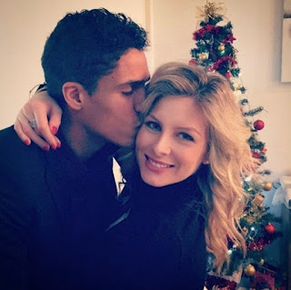 Raphaël Varane and his wife Camille Tytga