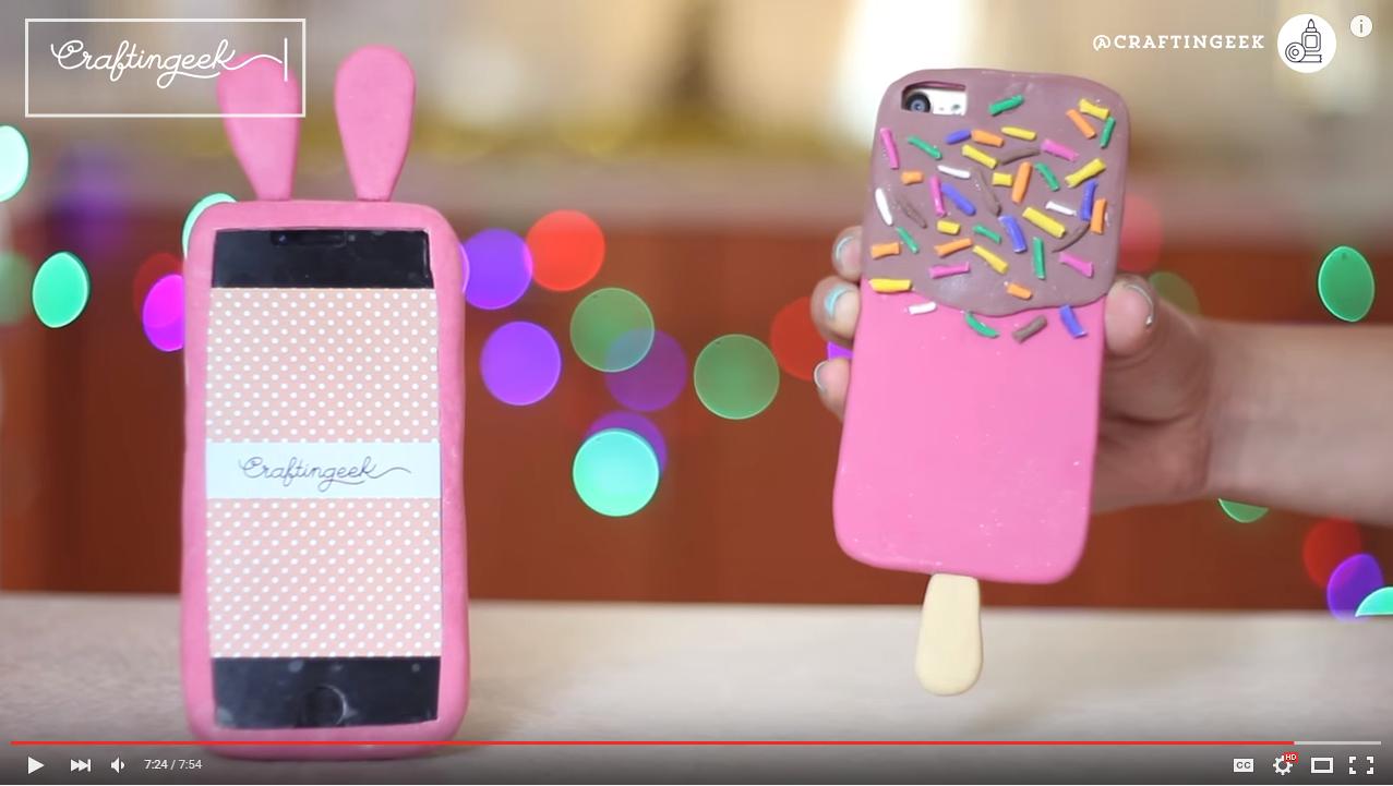 Manualidades chulas y creativas fundas para celular de - Como hacer fundas de silicon ...