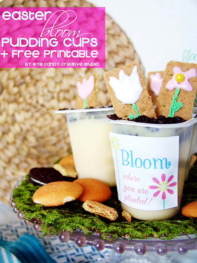 bloom where you are planted freebie, free download, pudding cups