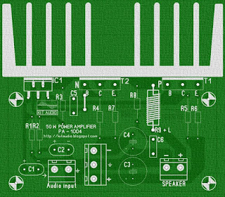 50 Watt audio power amplifier parts