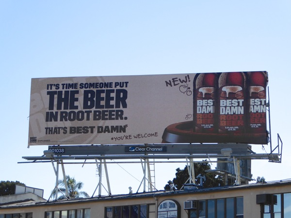 Best Damn Root Beer billboard