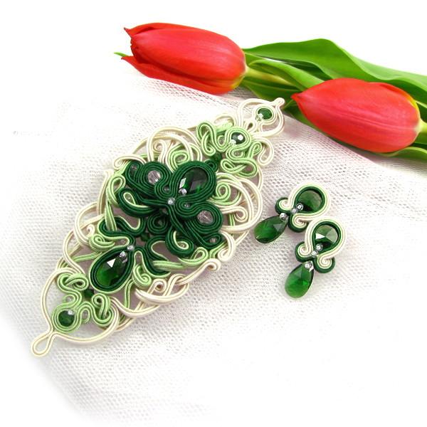 Aplikacja sutasz na suknię ślubną z kryształami Swarovski