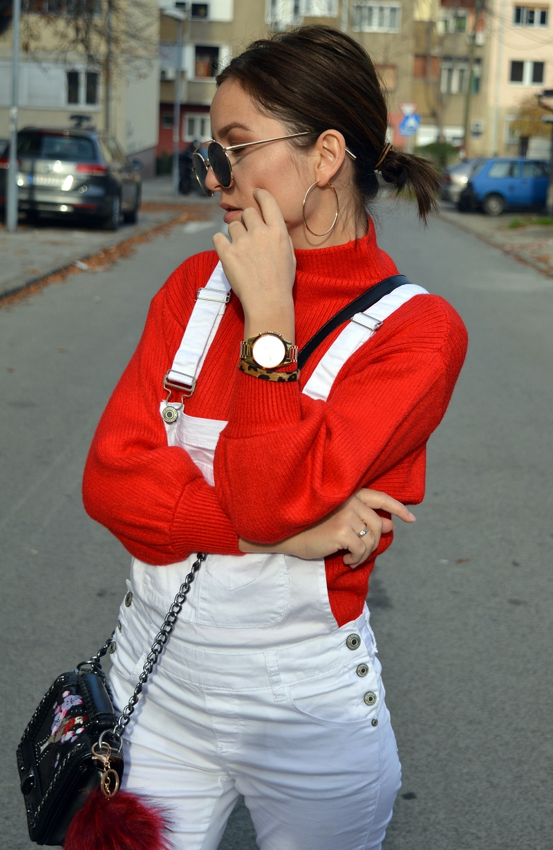 red sweater zaful