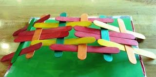 Cara Mudah Membuat jembatan langsung jadi dari Stick Es Krim