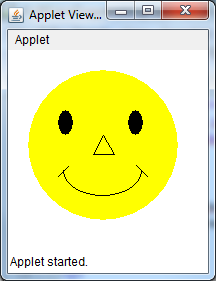 Java Programming Program To Draw Smiley In Applet
