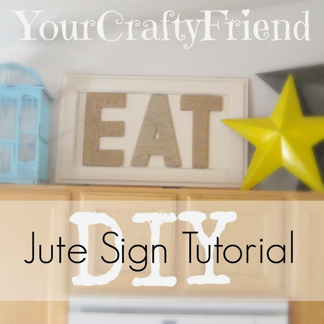 diy jute sign tutorial