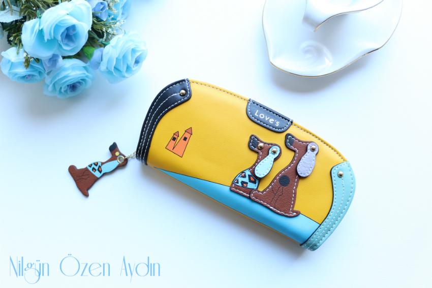 alışveriş-cüzdan-üç boyutlu köpek figürlü cüzdan